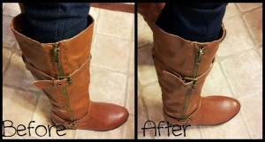 Boot Alteration Before & After