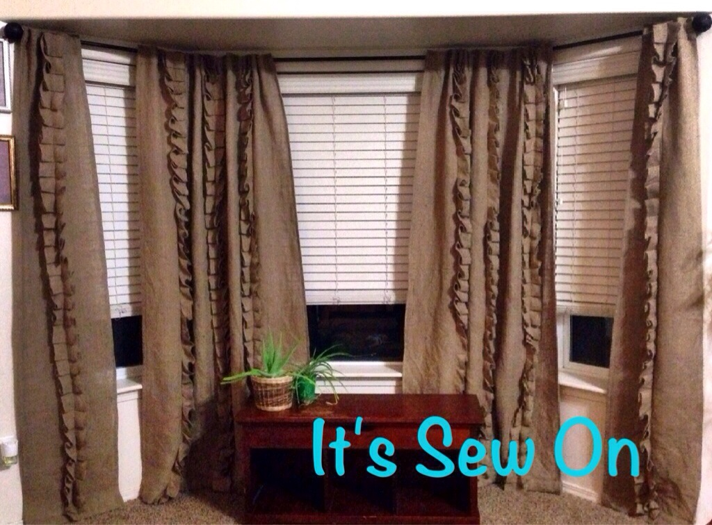 Burlap Tap Curtains Diy Out Of The Dust
